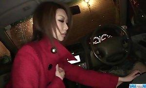 Rinka kanzaki adores engulfing cock connected with pov style