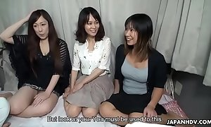 Three asian bimbos fucked on a cram then creamed