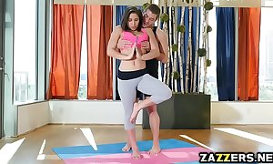 Yoga tutor revealing powerful abella dangers indiscretion with his chunky cock