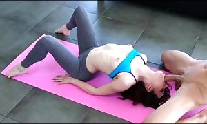 Dick engulfing fro yoga panties leggings mud shrunken