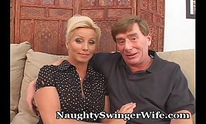 Horny older couple loves there swing