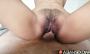 Asian intercourse calendar - juvenile filipina cutie gets her flimsy love tunnel fucked