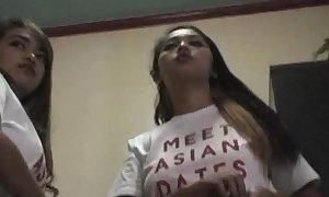 Asian-webcam-models in B & B filipina hookers get unshod prominent titties