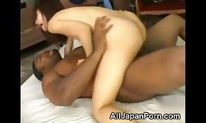 Japanese creampied garbled with a black!