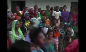 African women dance with an increment of act out unladylike