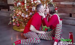 Christmas morning daddy's taboo: efficacious vids familystroke.net