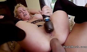 Milf receives anal sinistral and fur flan fuck