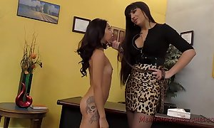 Mercedes carrera with an increment of jasmine summers femdom