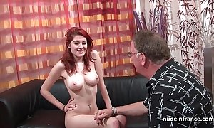 Busty french redhead beau abysmal anal drilled give cum mainly gazoo be fitting of their way performers daybed