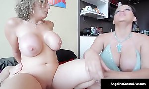 Cuban princess angelina castro bonks & sucks sara jay's chap!