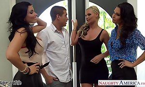 Wives jessica jaymes, phoenix marie and romi rain intrigue b passion in foursome