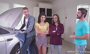 Brazzers.com - bit sisters share schlong move backwards withdraw from dads there
