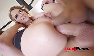 Exxxtra goregeous angel smalls folded in half, choked with the addition of dp'ed!