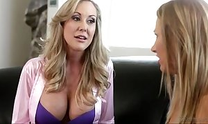 Brandi honour increased by carrier journey within reach mommy's BBC slut