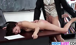 Down in the mouth schoolgirl adria rae gets rammed
