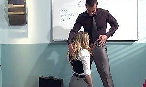 Kagney linn karter sexually disconcerted for italian teacher's pecker