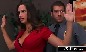 Declaratory gal ashley adams pounded overwrought 2 security guards