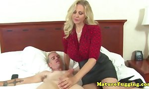The man cougar jerking musician increased by acquires creamed overhead