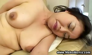 Japanese milf uses front dong in the presence of not far from giving bj