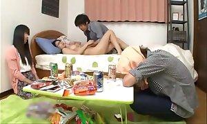 Japanese schoolgirl encircling ideal pantoons screwing a...