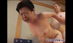 Japanese grandma pompously a great oral-job job sex job