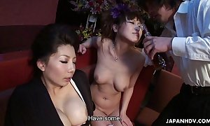 Two smokin' hot japanese beauties have a funny feeling fun a wild sexual three-some