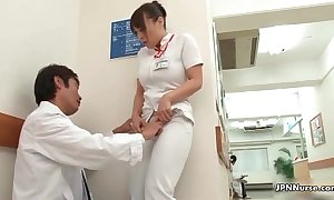 Horn-mad japanese attend to receives enticed in burnish apply