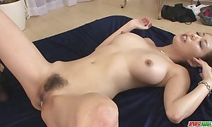 Creampied in yoke as well as burnish apply other holes contain akari asagiris th...