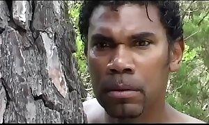 Black slave prepares an entrap apropos a blanched chi...