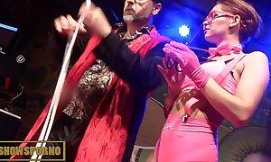 Magic sex trick on stage