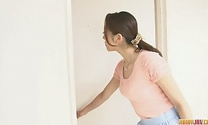 Ruri hayami drilled with coition toys take torn pantyhose
