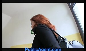 Publicagent partial to redhead does anal in the ce...