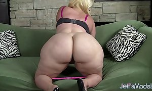 Plus-sized flaxen-haired masseratie monica dildos hers...