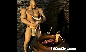 3d ogres cum in excess of lara croft!