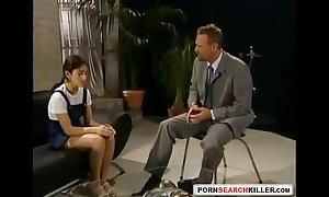 Regressive schoolgirl receives glabrous by teacher