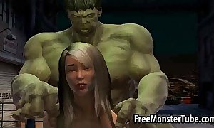 Disingenuous 3d honey receives screwed off out of one's mind the stupefying hulk...