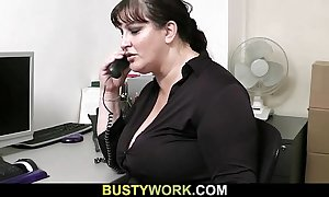 Oversexed co worker bangs bbw