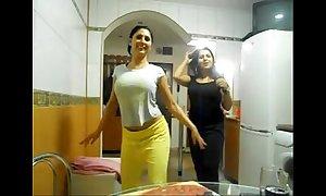 Off colour two arab beauties love bubbles statute fur pie statute