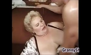Fat increased by prex granny enjoying a strapon