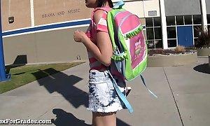 Hot emo teen hooks present itself the brush teacher!