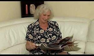 Hot copulation around marvelous grandmother