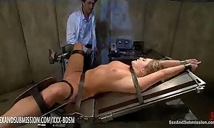 Humble golden-haired gets anal and facial treatment