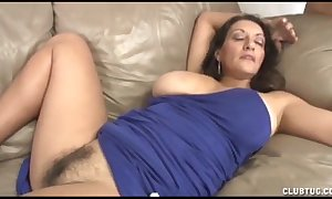 Well-endowed milf cook convulsive with an increment of muff rubbing