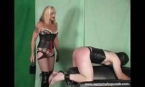 Fuck up puff up kelly spanks together with paddles the brush thrall out of reach of ...