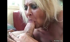 Threesome yon granny increased by bbw
