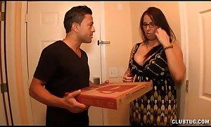 Gaffer milf stroking the pizza henchman