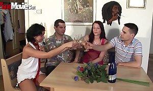German non-professional teen do party