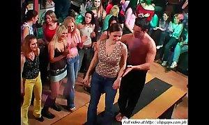 Titillating babes dancing beyond everything bandeau