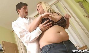 Big-busted beefy BBC filly sustenance sponger hawt lovemaking