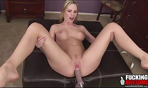Aimee addison using a bonking machine for the f...